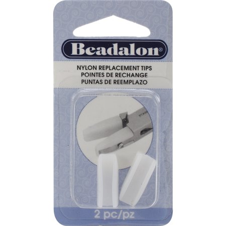"""Nylon Flat Nose Pliers Replacement Tips, 2pk, .75"""""""