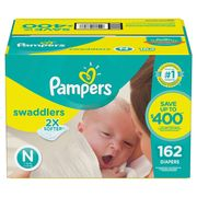 Pampers Swaddlers Diapers Size Newborn, - 162 Count