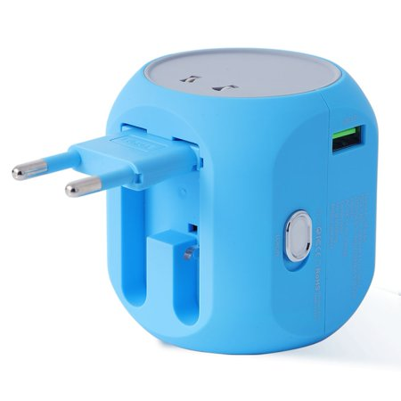 Travel adapter, Power Adapter,LUNSY All-in-one AC Convertor with USB port 3.0, International converter For US, UK, EU, AU, Asia Over 150