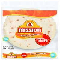 Mission Soft Taco Flour Tortillas, 20 Count