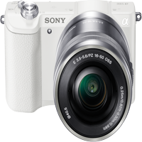 Sony Alpha a5100 Mirrorless Camera w/ 16-50mm lens - White