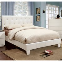 Furniture of America Avara Rhinestone Tufted Platform Bed