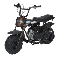 Monster Moto Classic Gas-Powered Mini Bike, Black With Pink And Red Decals