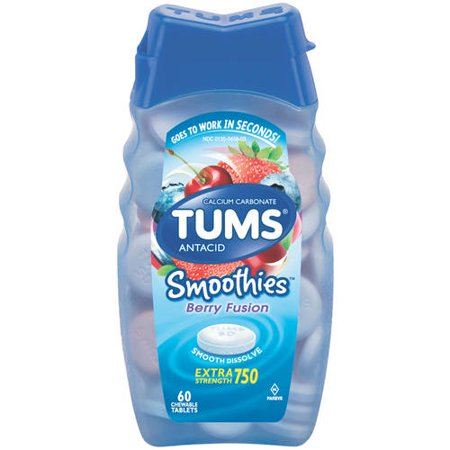 Tums Smoothies Berry Fusion Extra Strength Antacid