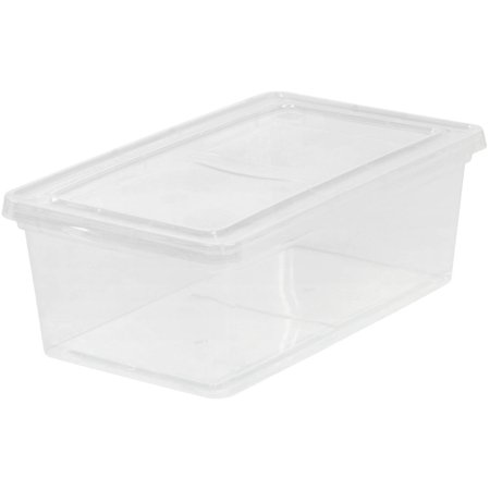 IRIS 6 Qt. Plastic Storage Box, Clear ()