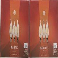 6 PACK Candelabra LED Filament 40W E12 B11 Soft White Led Light Bulb Edison Dim!