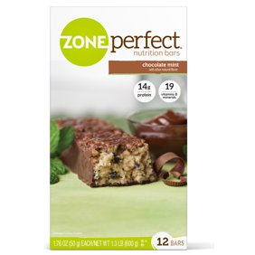 ZonePerfect Nutrition Snack Bar Chocolate Mint 14g Protein 12 Ct