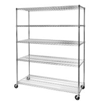 """24""""D x 60""""W x 72""""H Commercial 5-Tier Steel Wire Shelving System by Seville Classics"""