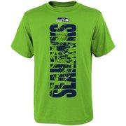 Youth Neon Green Seattle Seahawks Side T-Shirt 1dcce76e4