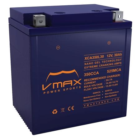VMAX XCA350L30 Personal Watercraft Battery for Ultranautics 1250cc Jet Star 1260 Boat (1991) 12V 30ah Powersports Nano Gel (1991 Water)