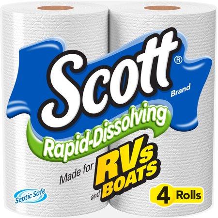 Scott Rapid-Dissolving Toilet Paper, 4 Rolls (Halloween Crafts With Toilet Paper Rolls)