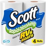 (6 Pack) Scott Rapid-Dissolving Toilet Paper, 4 Rolls