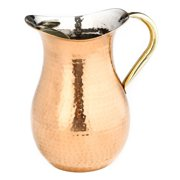 2.25 Qt. Copper Hammered Water Pitcher