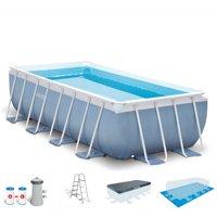 Intex 16 Feet x 8 Feet x 42 Inches Prism Frame Rectangular Swimming Pool Set