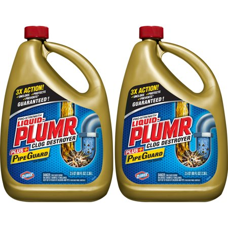 Liquid-Plumr Pro-Strength Full Clog Destroyer Plus PipeGuard, 160 - Liquid Drain Trap