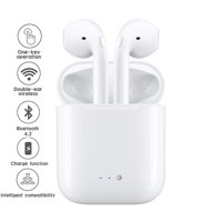 NEW 2018 Total Wireless Universal Bluetooth EarBuds w/ Charging Case - Stereo Sync - Secure Fit - Sweatproof -