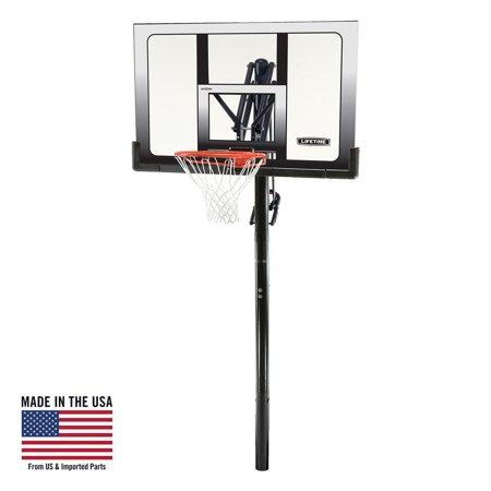 Lifetime Adjustable In-Ground Basketball Hoop (52-Inch), 71281 - Miniature Basketball Hoop