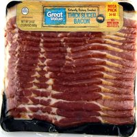 Great Value Thick Sliced Naturally Hickory Smoked Bacon, 24 Oz.