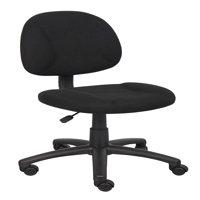 Boss Black Upholstered Deluxe Posture Task Chair, Multiple Colors