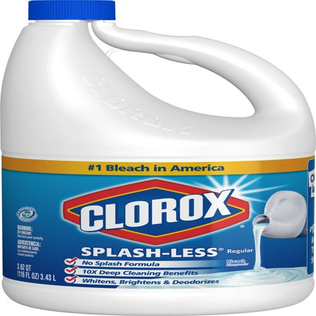 Clorox Splash-Less Liquid Bleach, Regular, 116 Ounce (Ecover Laundry Bleach)