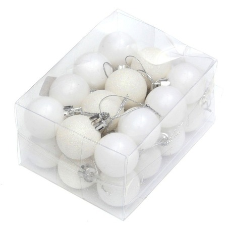 ENJOY 24pcs Christmas Tree Baubles Balls Decor Ornament Xmas Wedding Party (Wooden Christmas Balls)
