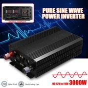4000W 60Hz Pure Sine Wave Power Inverter DC 12V to 110V AC Converter Car Caravan