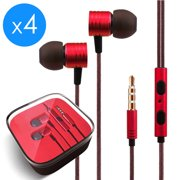 434afb894e7 4x Pack 3.5mm Headphones In-Ear Earbuds Afflux Universal Stereo Headset  Earphones For Cellphone Tablet iPhone 6 6S 5S SE 6/6S Plus Earbuds iPod  iPad Samsung ...