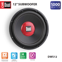 Dual Electronics DWS12 12-inch High Performance Subwoofer with a 2-inch Single Voice Coil and 1,000 Watts of Peak Power