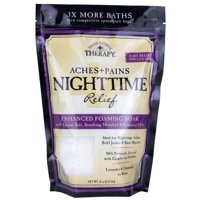 Village Naturals Therapy Aches & Pains Nighttime Relief Foaming Bath Soak 36 Oz