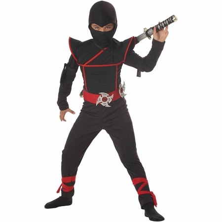 Stealth Ninja Child Halloween Costume - Kids Black Bear Costume