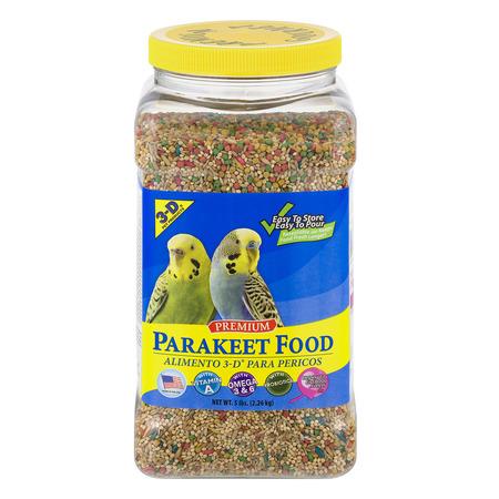 - 3-D Pet Products Premium Parakeet Food, 5.0 LB