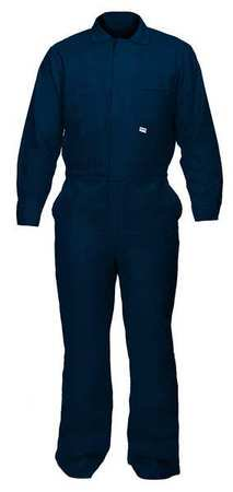 CHICAGO PROTECTIVE APPAREL Flame-Resistant Coverall,Navy Blue,XL 605-IND-N- XL