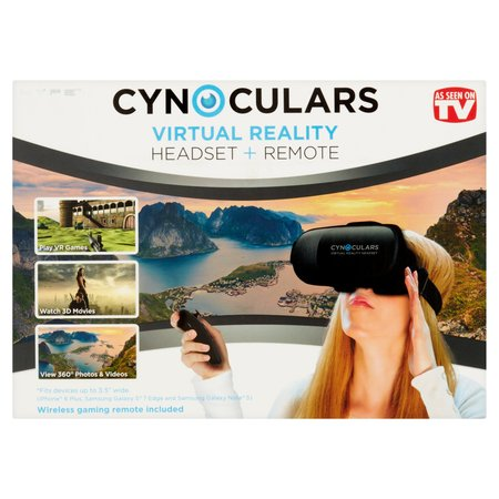 Cynoculars Mobile VR Headset and Remote (Best Vr Headset S8)