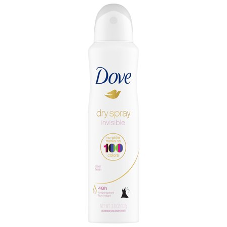 (2 pack) Dove Clear Finish Invisible Dry Spray Antiperspirant Deodorant, 3.8 oz
