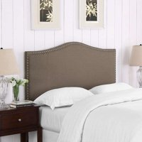 DHI Paige Headboard With Nailhead Trim, Pebble Stone, Full/Queen