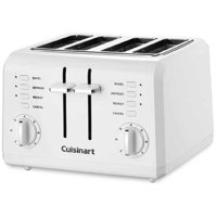 Cuisinart 4-Slice Compact Plastic Toaster, White