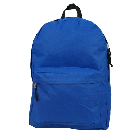 Classic Messenger Bag Backpacks - Backpack Classic School Bag Basic Daypack Simple Book Bag 16 Inch Royal