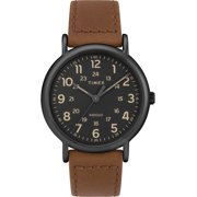 a067ff89e Timex Men's Weekender 40 Brown/Black Watch, Two-Piece Leather Strap