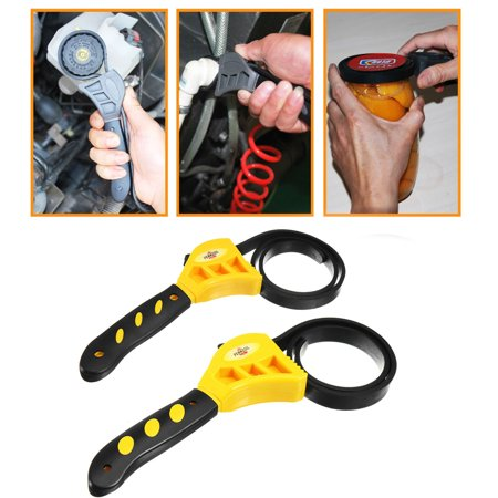 6'' 8'' Rubber Strap Wrench Adjustable Hand car repair tool Held Lid Plumbing Tighten Or