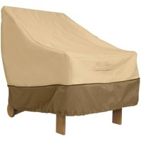 Classic Accessories Veranda Patio Chair Cover - Durable and Water Resistant High Back Outdoor Chair Cover, Pebble (78932)