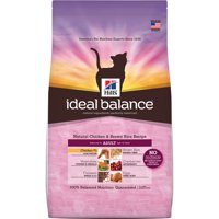Hill's Ideal Balance Adult Natural Chicken & Brown Rice Recipe Dry Cat Food, 15 lb bag