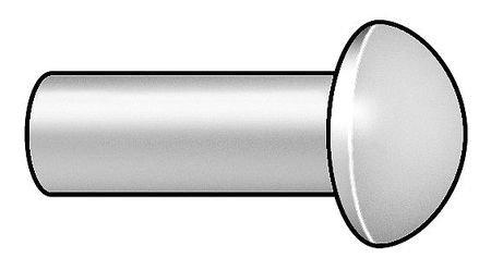 30A0204-EA-1000 Rivet, Round, 1/16 Dia, 1/4 L, PK 1000