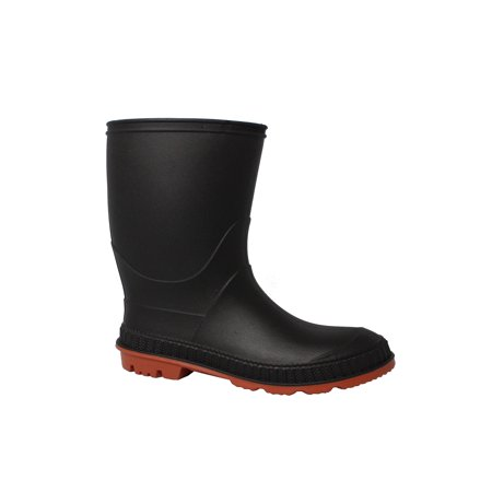 Totes Rubber Boots - Kid's Chain-Link Sole Chore Rain Boot