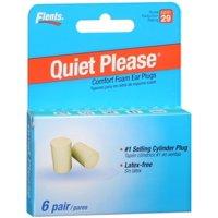 Flents Quiet! Please Foam Ear Plugs 6 Pairs (Pack of 3)