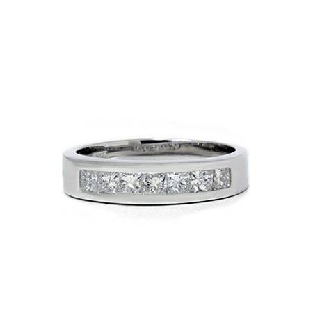 1 1/2ct Princess Cut Mens Real Diamond Wedding 14K (Diamond Princess Cut Mens Ring)