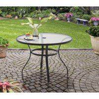 Mainstays Heritage Park Round Dining Table, Brown