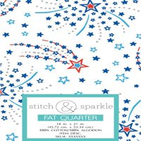 RTC Patriotic fabrics 100% Cotton, Shooting Stars, 140 Gsm, Fat Quarter, 3 pieces bundle