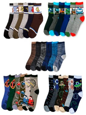 ATB 6 Pairs Assorted Kids Socks Size Ages 2-3 Years Animal Print Boys 2T 3T Toddler