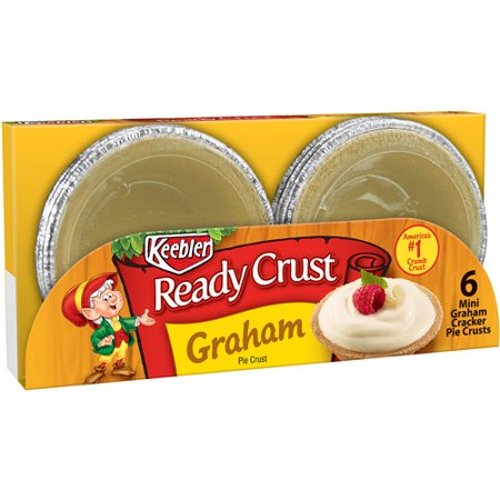 (3 Pack) Keebler Ready Crust Mini Pie Crust Graham - 6 CT