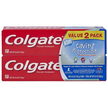 Kids Cavity Protection - Colgate Kids Toothpaste Cavity Protection, Bubble Fruit, 4.6 ounces (2 Pack)